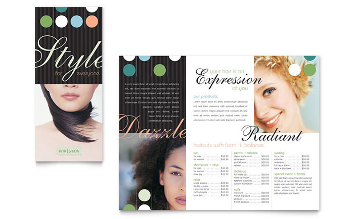Beauty & Hair Salon Brochure Template - Word & Publisher