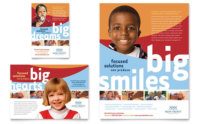 Community Non Profit Flyer & Ad - Word Template & Publisher Template