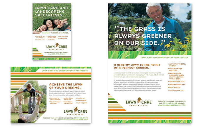 Lawn Care & Mowing Flyer & Ad - Word Template & Publisher Template