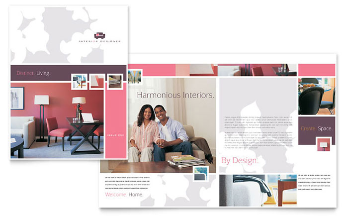 Interior Designer Brochure Template Word Publisher