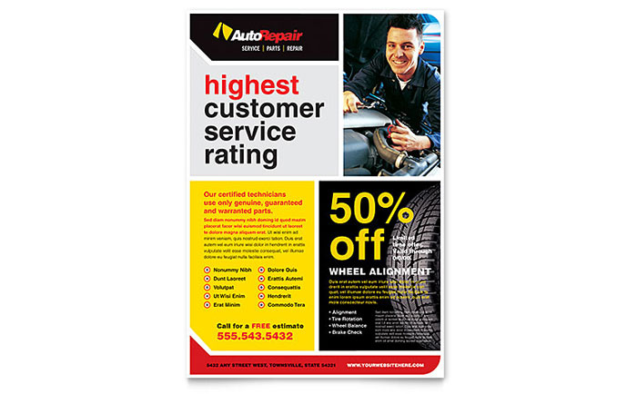 auto repair flyer template