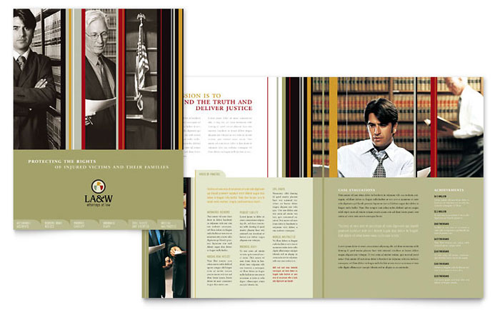 Lawyer & Law Firm Brochure - Word Template & Publisher Template