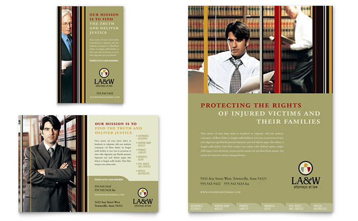 Lawyer & Law Firm Flyer & Ad Template - Word & Publisher