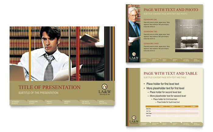 Lawyer & Law Firm PowerPoint Presentation Template - PowerPoint