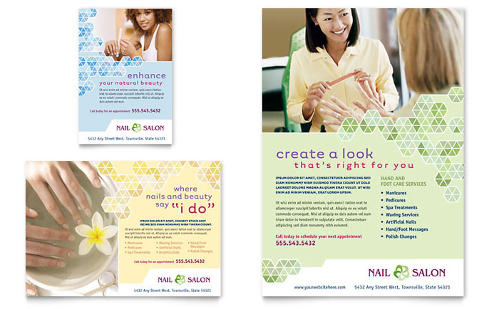 Nail Salon Flyer & Ad Template - Word & Publisher