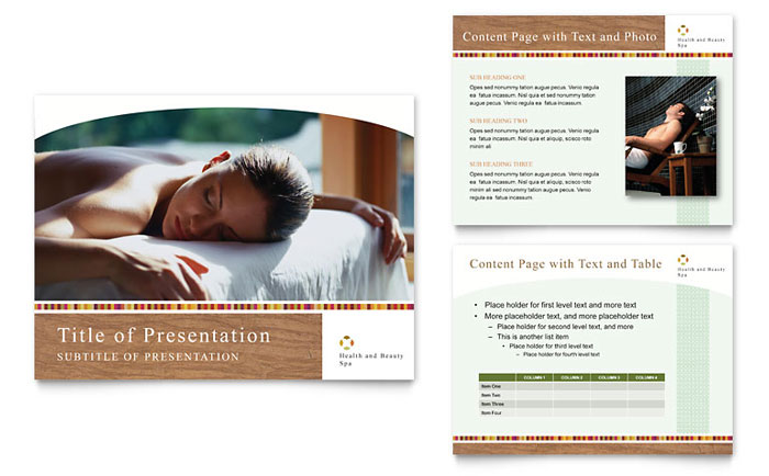 Health & Beauty Spa PowerPoint Presentation Template - PowerPoint