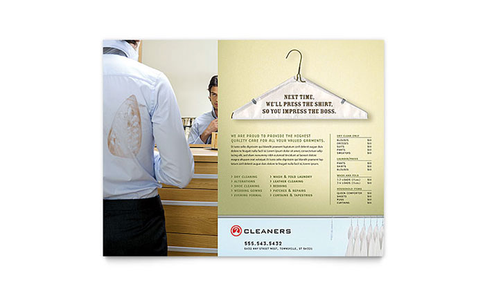 Laundry & Dry Cleaners Flyer Template - Word & Publisher