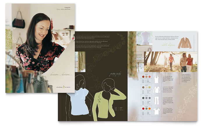 Women S Clothing Store Brochure Template Word Amp Publisher