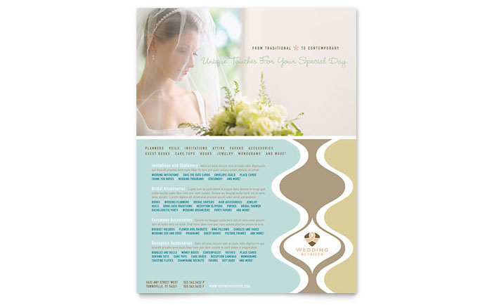 Wedding Store & Supplies Flyer Template - Word & Publisher