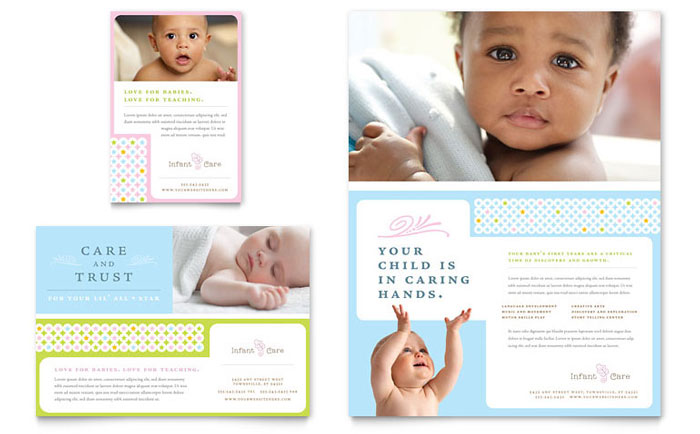 infant care babysitting flyer ad template word publisher
