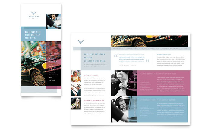 Limousine Service Brochure Template - Word & Publisher