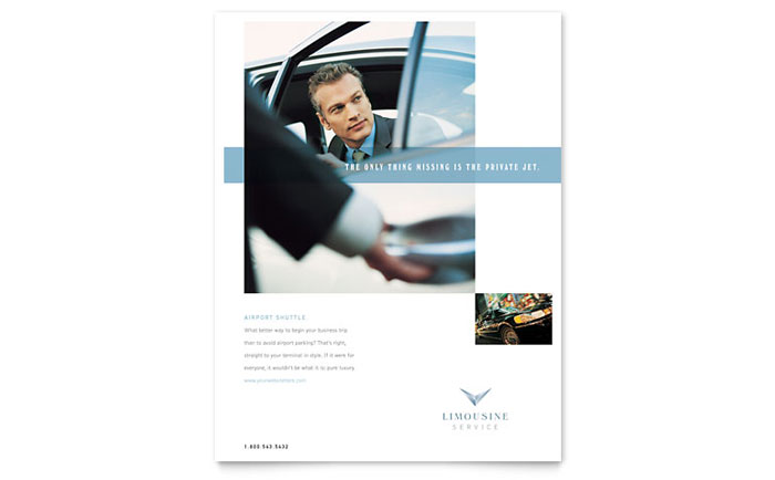 Limousine Service Flyer Template - Word & Publisher