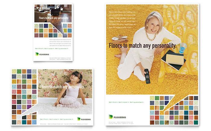 carpet  u0026 hardwood flooring flyer  u0026 ad template