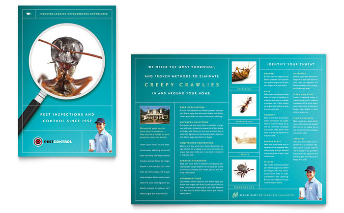 Pest control services brochure template word publisher for It services brochure template