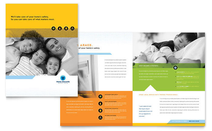 Home Security Systems Brochure Template Word Amp Publisher