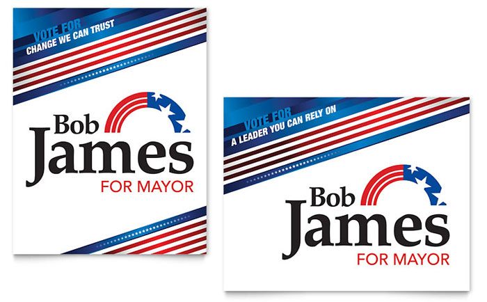 Political campaign poster template word publisher for Political brochure templates