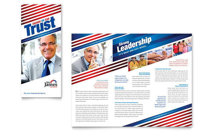 political campaign brochure template - political campaign tri fold brochure template word