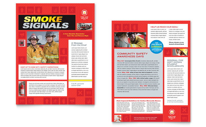 Fire Safety Newsletter Template - Word & Publisher