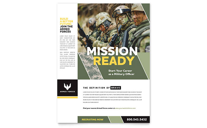 military flyer template