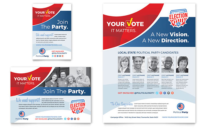 Election Flyer & Ad Template - Word & Publisher