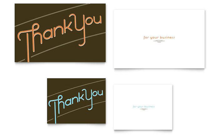 Thank You Note Card Template - Word & Publisher