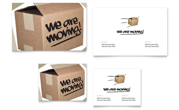 We're Moving Note Card - Word Template & Publisher Template