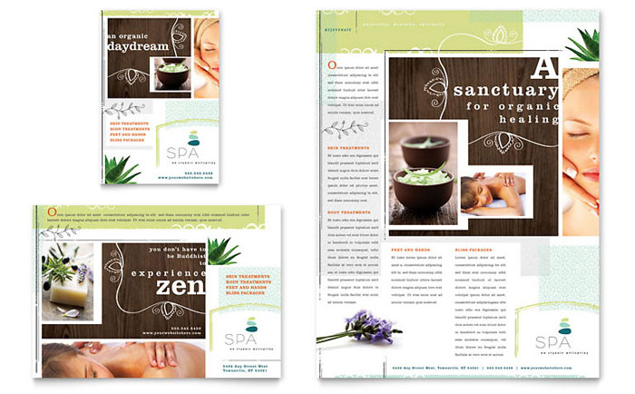 Day Spa Flyer & Ad - Word Template & Publisher Template