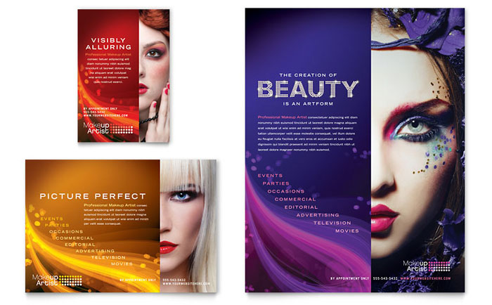 makeup artist flyer amp ad template word amp publisher