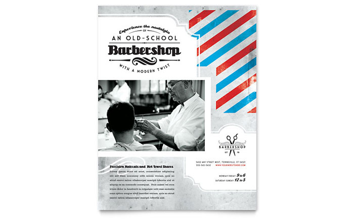 Barbershop Flyer Template - Word & Publisher