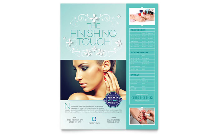 Nail Technician Flyer Template - Word & Publisher