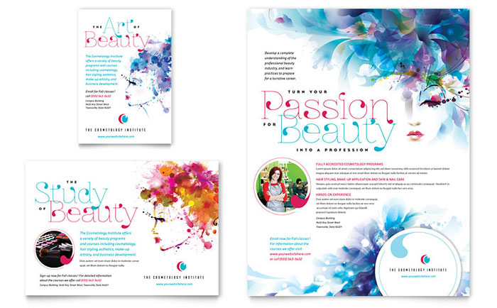 Cosmetology Flyer & Ad Template - Word & Publisher