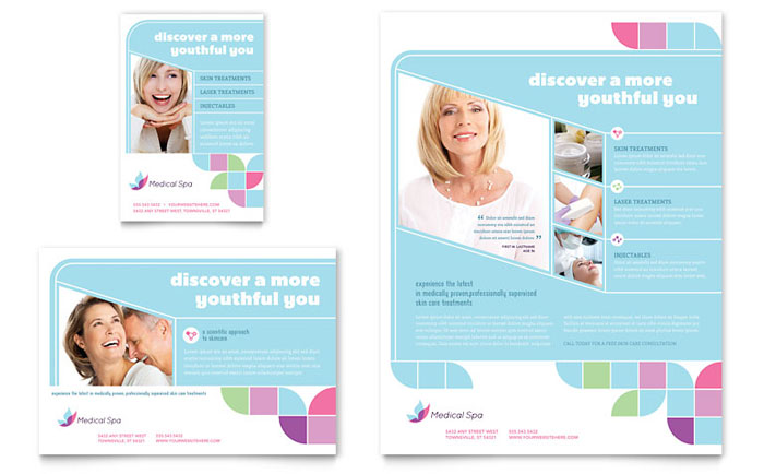 medical spa flyer  u0026 ad template