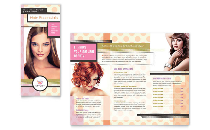 Hairstylist Brochure Template - Word & Publisher