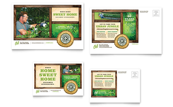 Tree Service Postcard Template - Word & Publisher