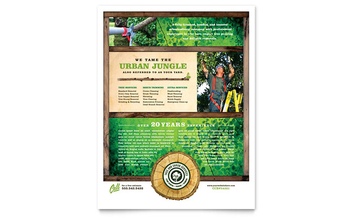 Tree Service Flyer Template - Word & Publisher
