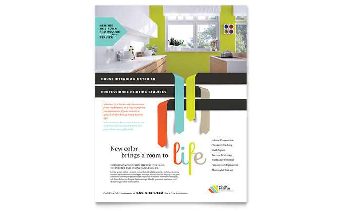 House Painter Flyer Template Word Amp Publisher
