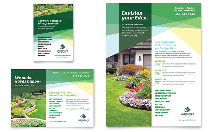 Landscaper Flyer & Ad Template - Word & Publisher