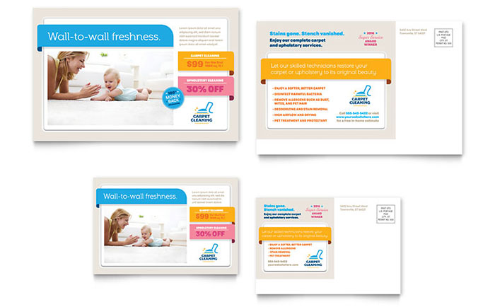 carpet cleaning postcard template