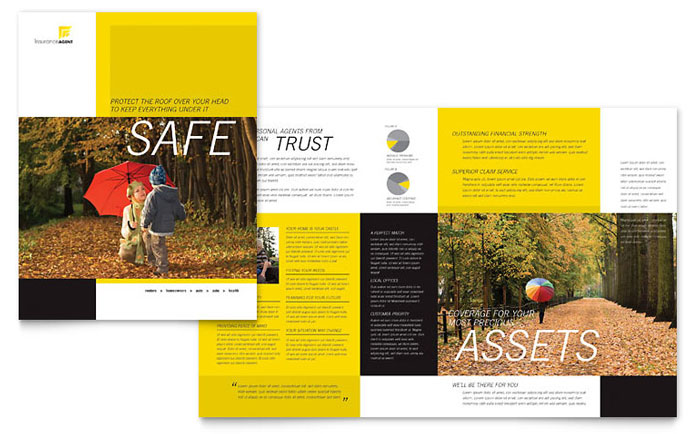 Insurance Agent Brochure Template - Word & Publisher