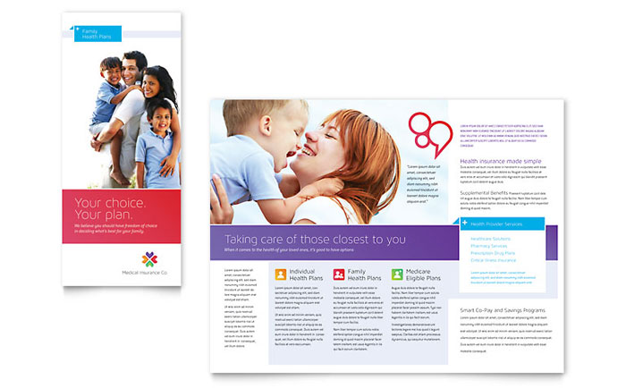 Medical Health Care Tri Fold Brochure Templates Word Publisher – Health Brochure Template