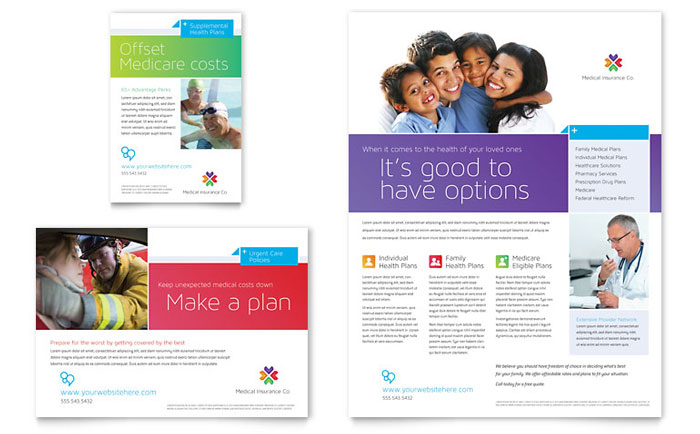 Medical Insurance Brochure Template - Word & Publisher