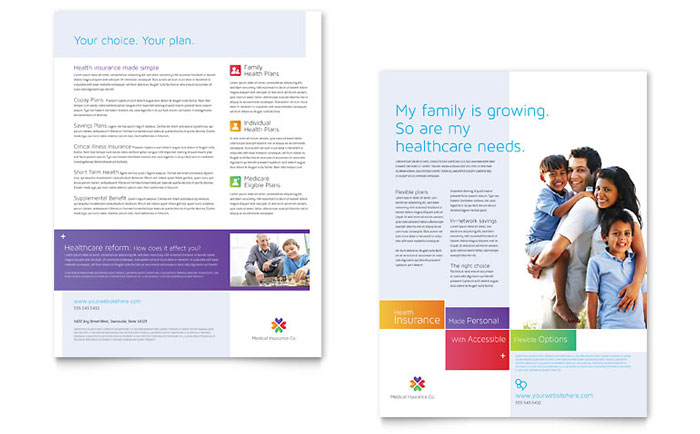 Medical Insurance Datasheet Template - Word & Publisher
