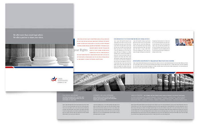 Legal government services brochure template word for Brochure design services