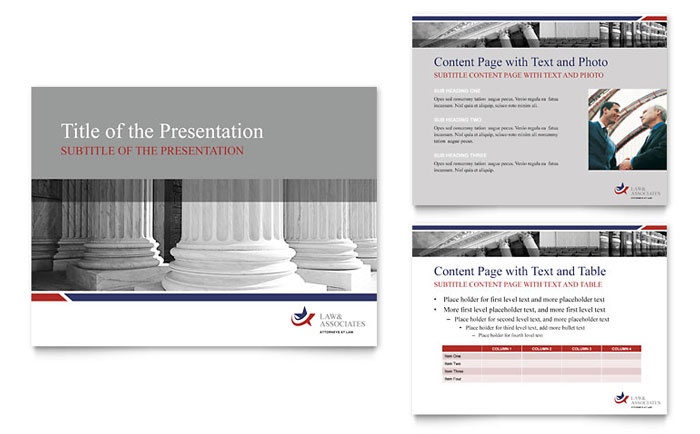 Legal & Government Services PowerPoint Presentation Template - PowerPoint