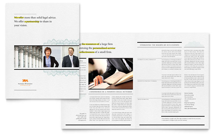 Attorney Brochure Template - Word & Publisher