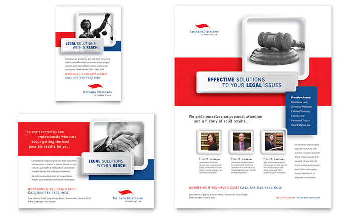 Justice Legal Services Flyer & Ad Template - Word & Publisher