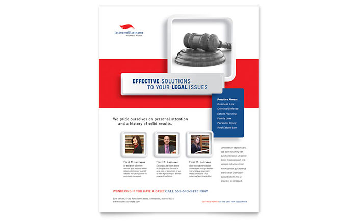 Justice Legal Services Flyer Template - Word & Publisher