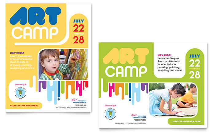Kids Art Camp Poster Template Word Amp Publisher