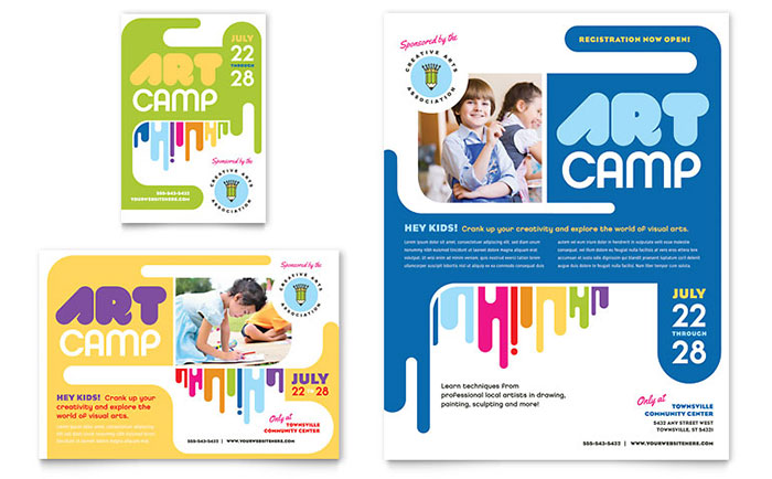 Kids Art Camp Flyer & Ad Template - Word & Publisher