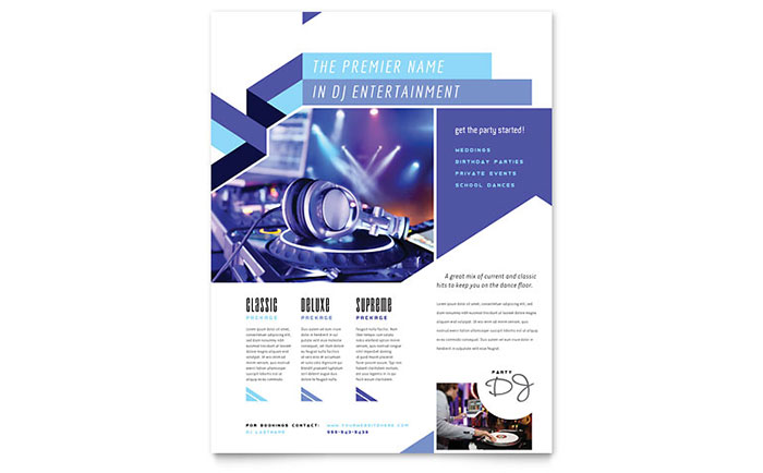 DJ Flyer Template - Word & Publisher